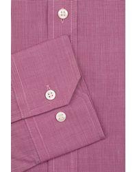 Moss Esq. - Regular Fit Purple Single Cuff Shirt for Men - Lyst