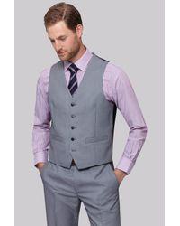 Moss Esq. | Regular Fit Black & White Birdseye Waistcoat for Men | Lyst