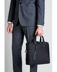 HUGO - Black Document Bag for Men - Lyst
