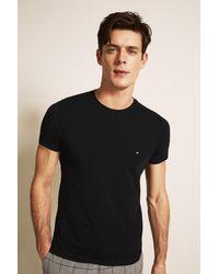 Tommy Hilfiger Black Stretch Slim-fit Crew-neck T-shirt for men