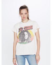 MadeWorn Bob Marley Crew Tee Dirty White