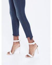 Mother Blue Stunner Zip Ankle Step Fray
