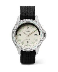 Timex Metallic Archive Navi World Time 38mm Stainless Steel And Nylon-webbing Watch for men