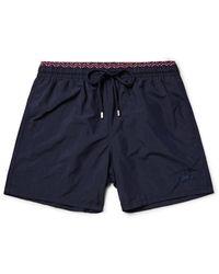 Vilebrequin - Blue Moloka Long-length Swim Shorts for Men - Lyst