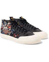 Adidas Originals Black Footpatrol Juice Matchcourt Mid Sneakers for men