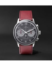 Junghans Gray Meister Driver Chronoscope 45mm Stainless Steel And Leather Watch, Ref. No. 027/3685.00 for men