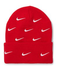 Nike Nrg Logo-embroidered Stretch-knit Beanie for men