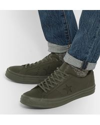 Converse Green + Engineered Garments One Star Leather Sneakers for men