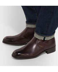 Tom Ford Brown Icon Wilson Leather Boots for men