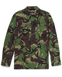 Rag & Bone - Green Heath Camouflage-print Cotton-blend Shirt Jacket for Men - Lyst