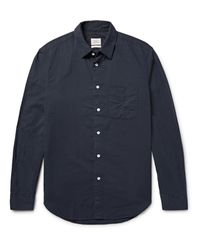 Rag & Bone Blue Standard Issue Beach Cotton Shirt for men