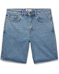 NN07 Blue Denim Shorts for men