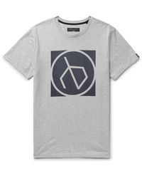 Rag & Bone - Gray Printed Mélange Cotton-jersey T-shirt for Men - Lyst