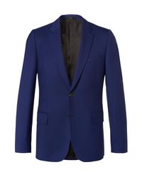 Paul Smith Blue Soho Travel Slim-fit Wool-twill Suit Jacket for men