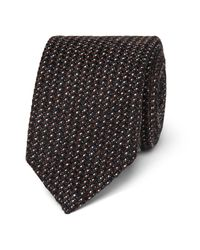 Kingsman Black + Drake's Statesman 8cm Nailhead Wool Tie for men