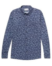 Thorsun | Blue Printed Cotton Shirt for Men | Lyst