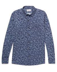 Thorsun - Blue Printed Cotton Shirt for Men - Lyst