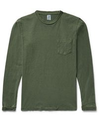 Velva Sheen Green Cotton-jersey T-shirt for men