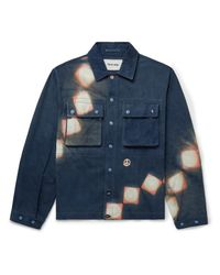 STORY mfg. Blue Helix Resist-dyed Organic Cotton Jacket for men
