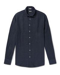 Massimo Alba - Blue Linen Shirt for Men - Lyst
