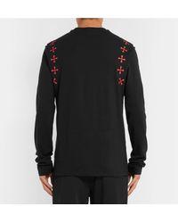 Neil Barrett Black Printed Stretch-cotton Jersey T-shirt for men