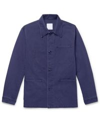 Sandro Blue Cotton-canvas Jacket for men