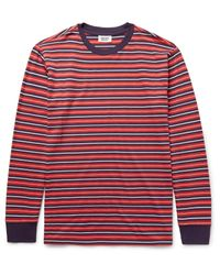 Sleepy Jones Red Powell Striped Cotton-jersey Pyjama T-shirt for men