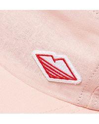 Battenwear - Pink Logo-embroidered Linen And Cotton-blend Baseball Cap for Men - Lyst