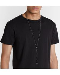 Alexander McQueen Metallic Beaded Silver-tone Crystal Necklace for men
