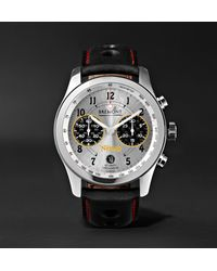 Bremont Black Norton V4 Automatic Chronometer 43mm Stainless Steel And Leather Watch for men