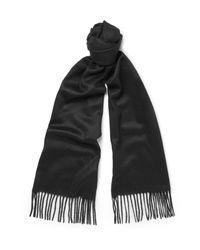 Johnstons Black Cashmere Scarf for men