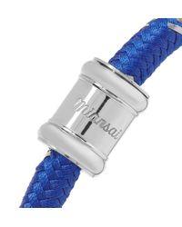 Miansai Blue Single Casing Cord Stainless Steel Bracelet for men