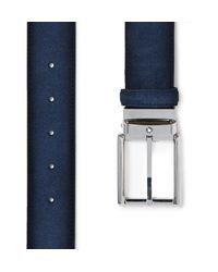 Montblanc Blue 3.5cm Suede Belt for men
