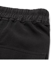 Rick Owens Black Wool-crepe Drawstring Trousers for men