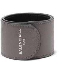 Balenciaga - Gray Cycle Arena Creased-leather Cuff for Men - Lyst
