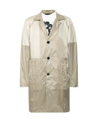 Raf Simons Multicolor Layered Printed Cotton-jersey And Shell Raincoat for men