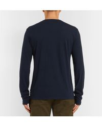 James Perse Blue Cotton-jersey T-shirt for men