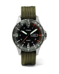 Timex Black Navi Land 38mm Stainless Steel And Ballistic Nylon-webbing Watch for men