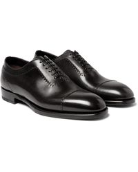 Brioni - Black Leather Oxford Shoes for Men - Lyst
