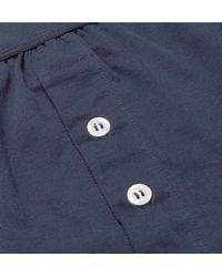 Handvaerk Blue Pima Cotton-jersey Boxer Briefs for men