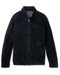 A.P.C. Blue Cotton-corduroy Blouson Jacket for men