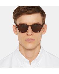 Cutler & Gross Brown Round-frame Tortoiseshell Acetate Sunglasses for men