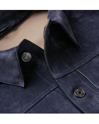 Berluti Blue Suede Jacket for men