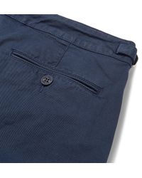 Orlebar Brown Blue Campbell Slim-fit Tapered Stretch-cotton Twill Trousers for men