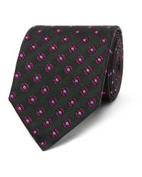 Dunhill | Green 8cm Medallion-patterned Mulberry Silk-jacquard Tie for Men | Lyst