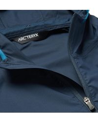 Arc'teryx Blue Incendo Mesh-panelled Lumin Hooded Jacket for men