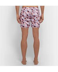 Thorsun Pink Titan Slim-fit Mid-length Printed Swim Shorts for men