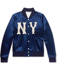 Gucci Blue Ny Bomber Jacket for men