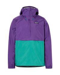 Patagonia Purple Torrentshell Waterproof Ripstop Hooded Jacket for men