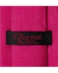 Charvet Multicolor Textured Silk And Linen-blend Tie for men